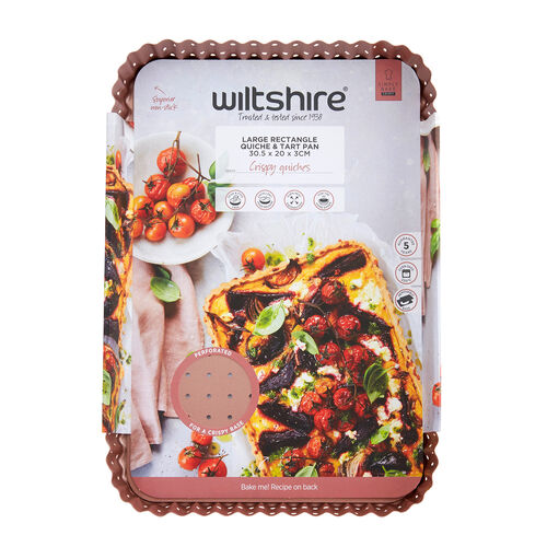 Wiltshire Tart Pan 30.5x20cm - Rose Gold