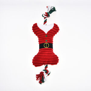Christmas Bone & Rope Dog Toy