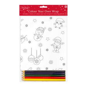 Colour your own Christmas wrap