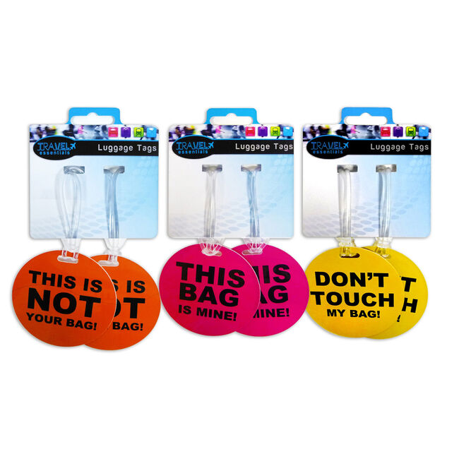 Travel Essentials Luggage Tags