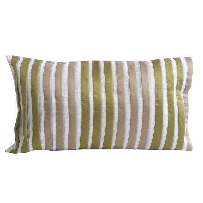 Pleats Green Cushion 30cm x 50cm