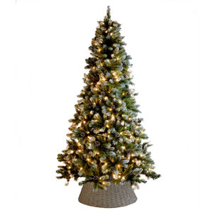 Frosted Pine Cone Christmas Tree 7.5ft