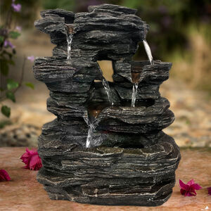 Rock Tabletop Water Fountain with LED light