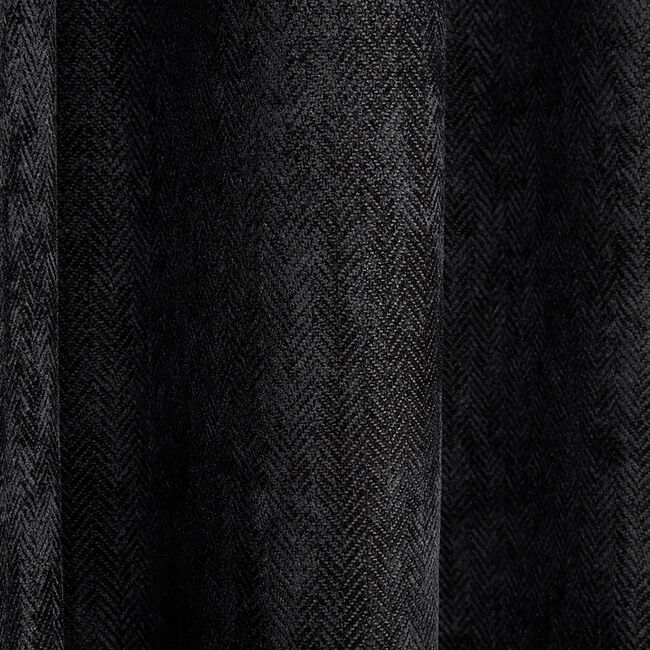 BLACKOUT & THERMAL HERRINGBONE BLACK 66x54 Curtain