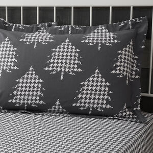 Brushed Cotton Trees Charcoal Oxford Pillowcases