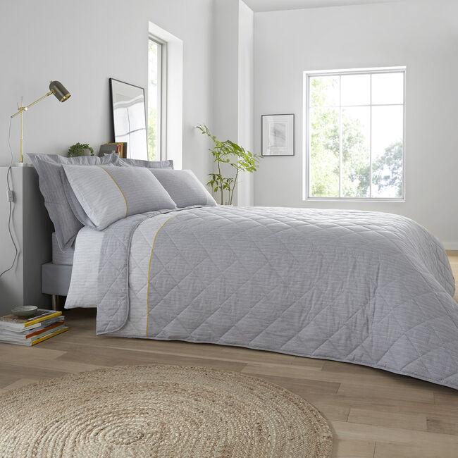 Bradley Bedspread 200x220cm - Grey