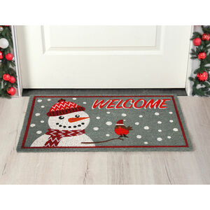 Snowman and Robin Door Mat 40 x 70cm
