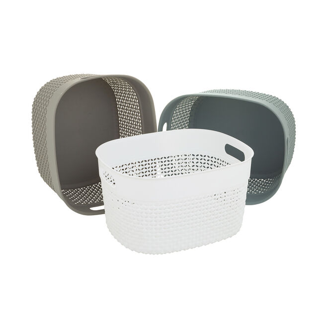 Dot Storage Basket 6L - White