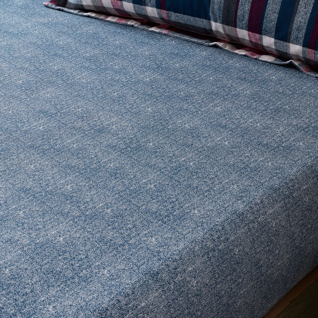 BRUSHED COTTON BOOTHMAN CHECK Double Fitted Sheet