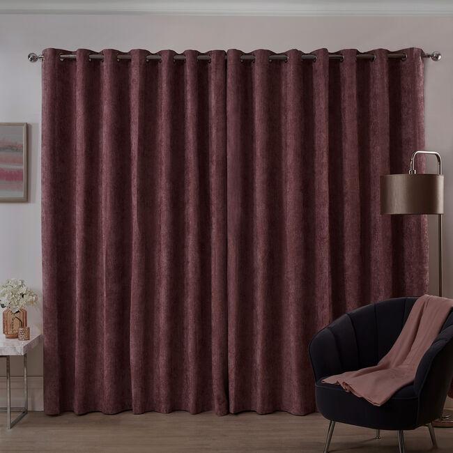 BLACKOUT & THERMAL HERRINGBONE BLUSH 90x90 Curtain