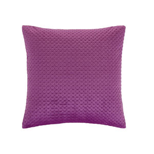 Velour Stitch Cushion 45x45cm - Cerise