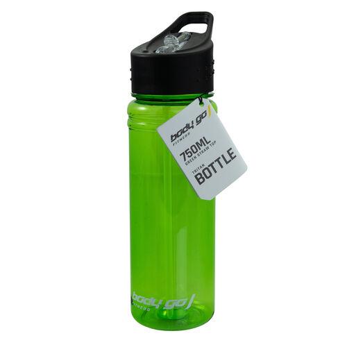 BodyGo Fitness Straw Top Bottle 750ml - Green