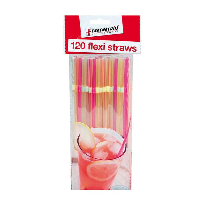 120 Flexi Straws