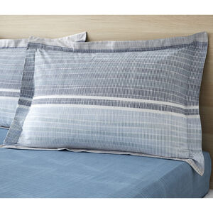 Sam Stripe Oxford Pillowcase Pair - Blue