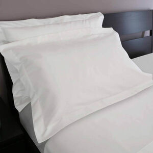 200 Threadcount Cotton White Pillowcase
