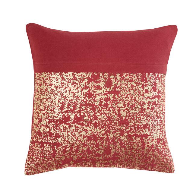 FOIL PRINT COTTON WINE 45x45 Cushion