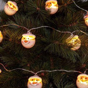 Snowman String LED Lights 10 piece