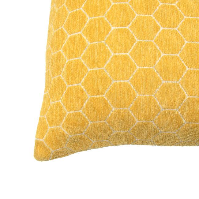 Honeycomb Cushion 58x58cm - Mustard