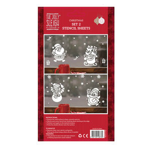 Christmas Stencil Sheets - Set of 2
