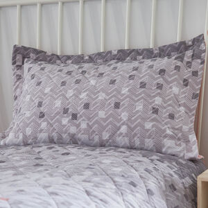Marti Blush/Grey Pillowshams 50cm x 75cm