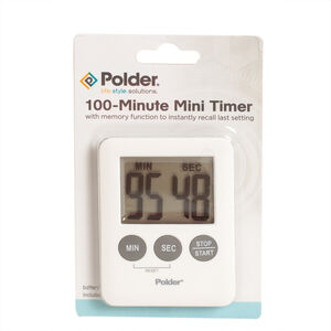 Polder 100 Minute Mini Timer - White