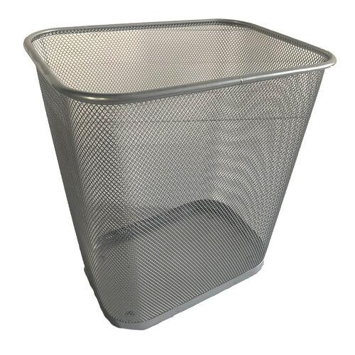 Rectangular Mesh Bin - Silver