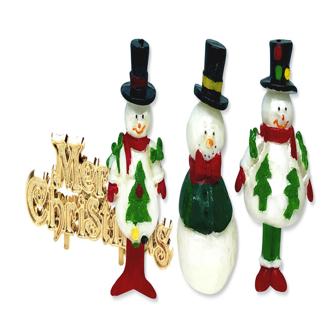 Snowman Cake Topper & Merry Christmas Motto