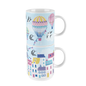 Cambridge Up In The Air 2 Stacking Mugs