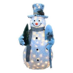 Light Up Snowman with Shovel 1.2m