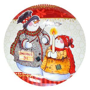 Love Christmas Snowmen Cookie Plate