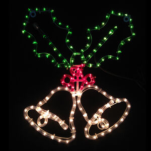 Bells & Holly Rope Light Silhouette