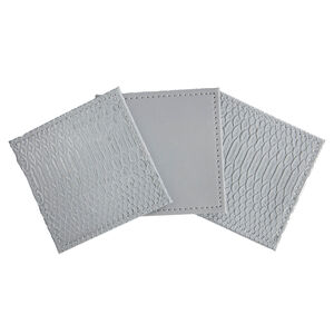 Reversible Croc Coasters - Grey