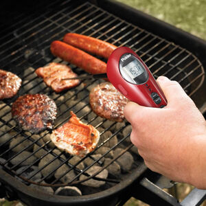 Polder Safe Serve Thermometer with Torch - Red