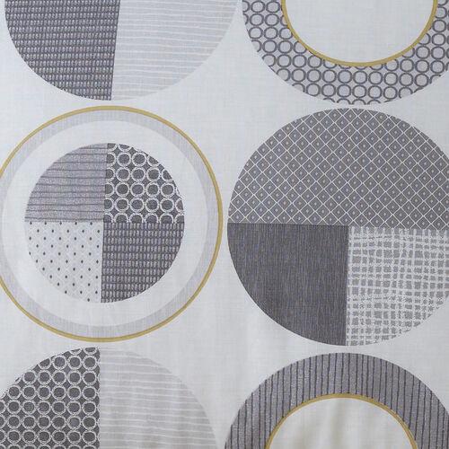 Rotate Oxford Pillowcase Pair - Grey/Ochre