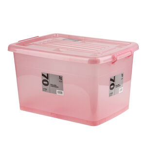 Rolling Storage Container 70L - Blush