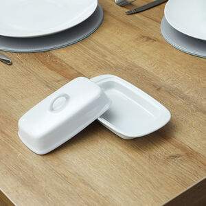 Abney and Croft White Butter Dish