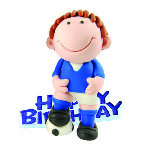 Happy Birthday Footballer Cake Topper