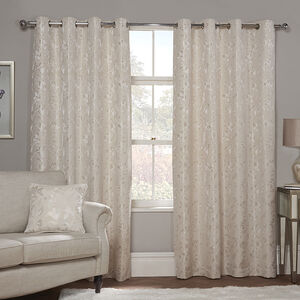 FLORAL JACQUARD SAND 66x 54 Curtain