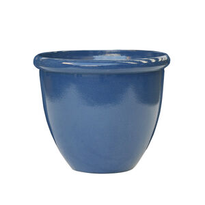 Medium Blue Glaze Lite Plant Pot