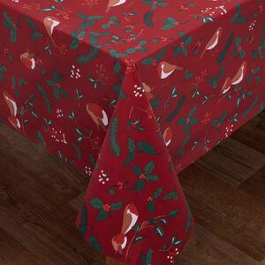 Robin & Holly PVC Tablecloth 160 x 230cm