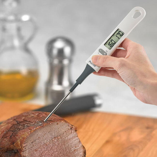Polder Digital Baking & Candy Thermometer - White