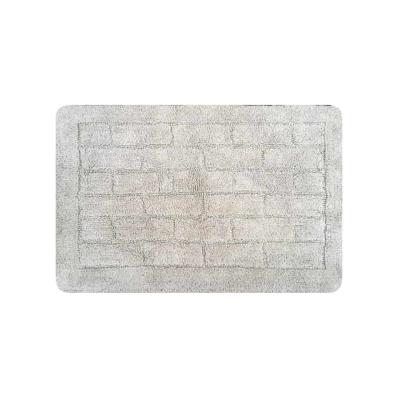 Basics Memory Foam Bath Mat Stone Design Grey 50 x 80 cm ...