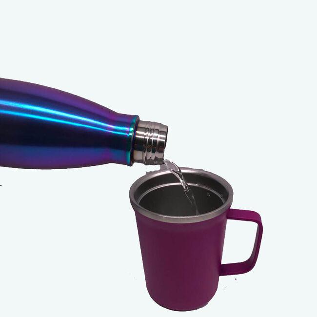 BodyGo Metallic Capsule Bottle 480ml - Blue