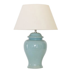 Turquoise Crackle Jar Table Lamp