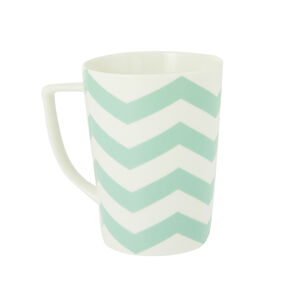 Arthur Wood Teal Chevron Mug