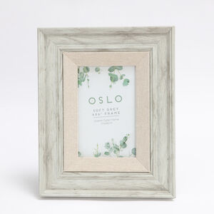 Oslo Soft Grey Photo Frame 4x6""
