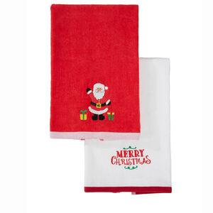 Santa & Presents Tea Towel - 2pack