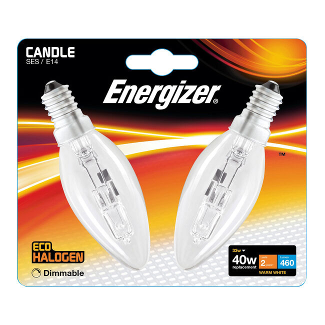 Eco Clear SES 2 Halogen Candle Bulbs 33W