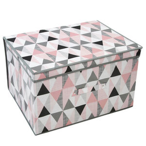 Vector Grey & Pink Foldable Storage Chest