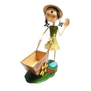 Dancing Girl with Wheelbarrow Planter